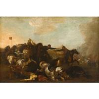 battle scene by antonio calza