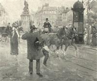 parisian street scene by jean soler