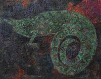 mystery chameleon by victor ekpuk