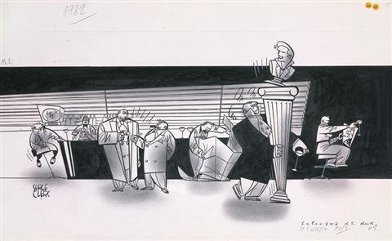 illustration pour hors série rock télérama by serge clerc