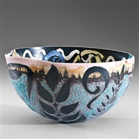 gloriously decorated early bowl by phillip maberry
