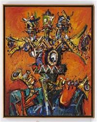 cabeza de ocumicho con jazzeros by jazzamoart