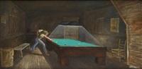 untitled (pool player) by ernie barnes