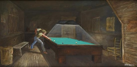untitled pool player by ernie barnes