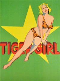 tiger girl (from one cent life) by mel ramos