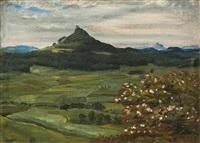 szene aus dem böhmischen mittelgebirge by lev simak