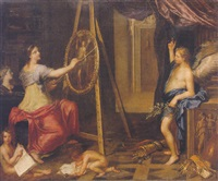 an allegory of painting by charles alphonse dufresnoy