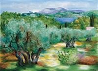 paysage provencal by moïse kisling