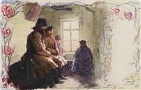 muzhiks waiting in the reception by arnold borisovich lakhovsky