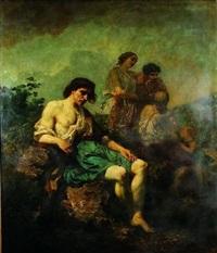 scène pastorale by edouard armand-dumaresq