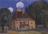 gartenlandschaft mit herrenhaus by alexandre rochat
