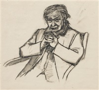 man seated by joan kathleen harding eardley