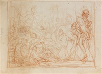 massacre des innocents (study)(+ 3 others; 4 works) by cornelis schut the elder