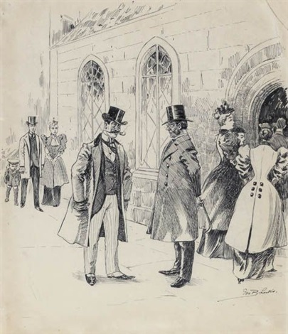 meeting at the church by george benjamin luks