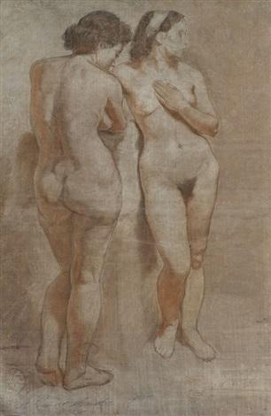 two nudes by alexandr nikolaevich samokhvalov