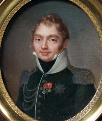 portrait de charles-ferdinand, duc de berry by jean baptiste jacques augustin