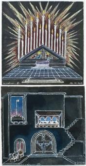 designs for stage sets (2 works) by vlatislav hofmann
