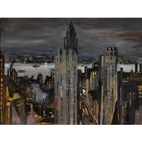 the hudson (from the new york skyline) by john whorf