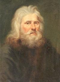 a bearded gentleman in a fur-lined coat by johann christian fiedler