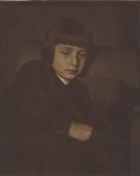 hans kühn, portrait sitzend by heinrich kühn