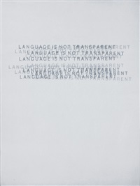 language is not transparent by mel bochner