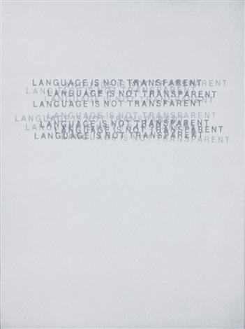 language is not transparent by mel bochner