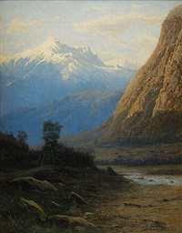 mountain landscape in the caucasus by m. kavransky
