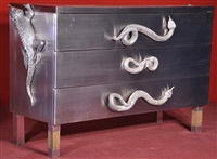commode aux iguanes et serpents by christian maas