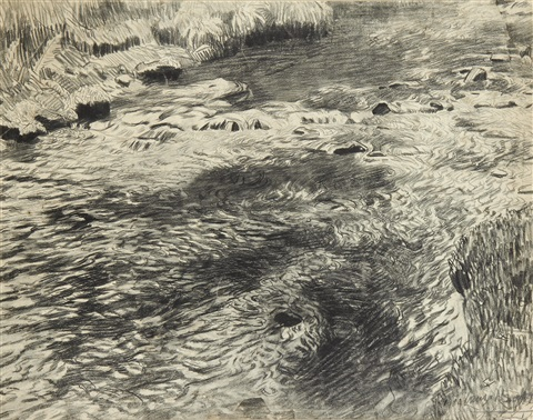 rocky stream by dame laura knight