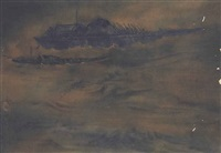 untitled (boats on river) by nandalal bose
