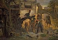 aufbruch der soldaten by otto clemens fikentscher