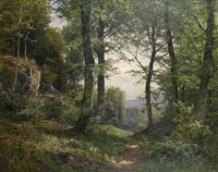 view on a wood glade by heinrich böhmer