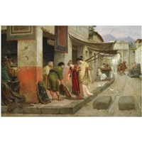 carpet merchant in pompeii by ettore forti