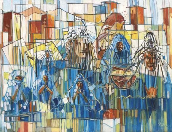 danseuses en bleu by saïd yaghfouri
