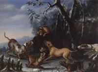 l'hallali d'un sanglier by joseph stephan