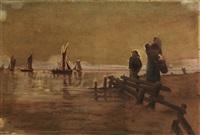 le départ de pêcheurs by frithjof smith-hald
