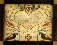 taufschein for maria anna conrath by francis charles portzline