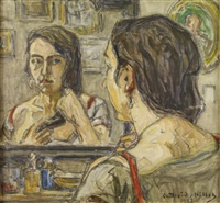 femme au miroir by germain david-nillet