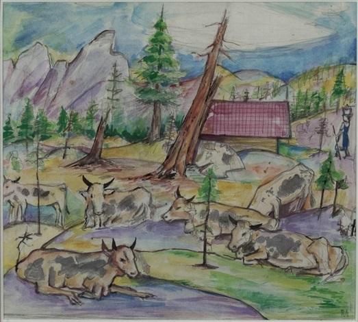 kühe auf der alm by robert angerhofer