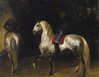 chevaux gris pommelé by théodore géricault