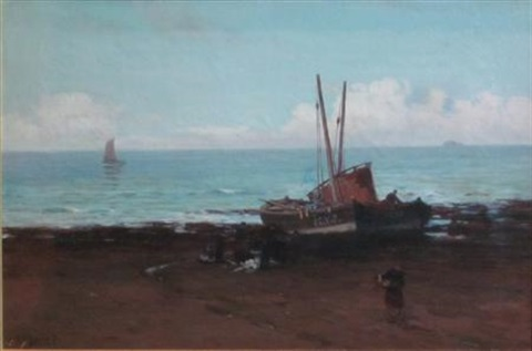 harbour scene by alexander young