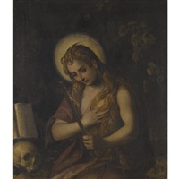 the penitent mary magdalene by domenico tintoretto