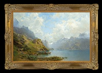 lake in the mountains by robert schultze