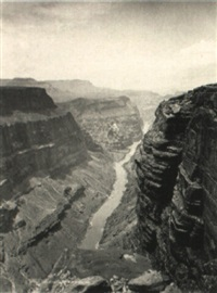 grand canyon of the colorodo river looking west by john k. hillers