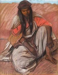 jeune marocaine assise by jacques majorelle