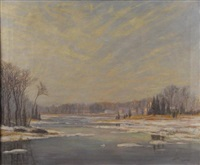 duxbury marsh in winter by franklin whiting rogers