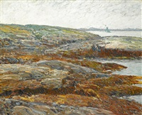 land's end, coast of maine by childe hassam