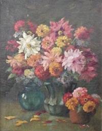 floral still-life by martin rettig