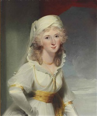 portrait of dorothy style, half-length by richard cosway