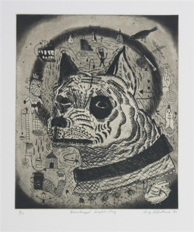 black eyed fight dog by tony fitzpatrick